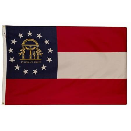 - 3x5 Georgia State Flag Made In The USA