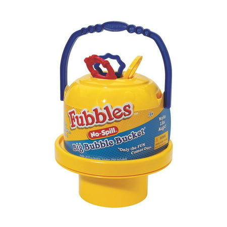 Fubbles No-Spill Big Bubble Bucket (Colors may vary), Twist open top and easy-to-carry handle for on-the-go bubble fun By Little Kids (Twisted Bubble)