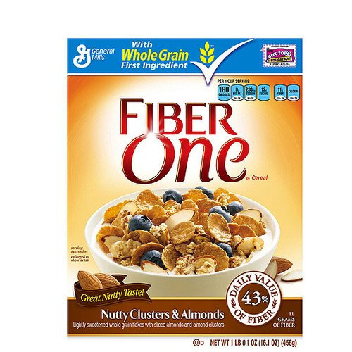 Fiber One Nutty Clusters & Almonds Cereal, 16.1 oz