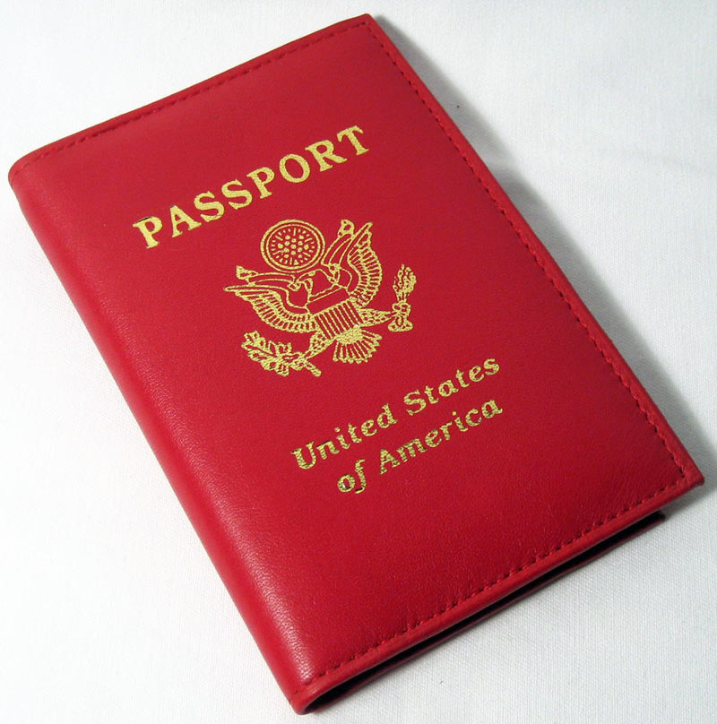 Marshal GENUINE RED LEATHER PASSPORT COVER HOLDER CASE TRAVEL WALLET US SEAL GOLD NEW !!
