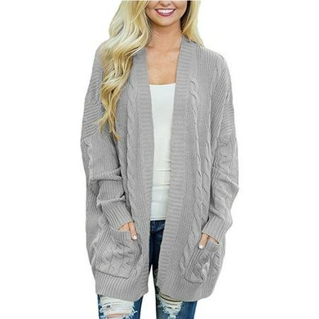 Sexy Dance - Plus Size Women Winter Cardigan Knitwear Tops Bat Sleeve Long  Open Oversized Knit Sweater Outwear Coat - Walmart.com cb7488ce1