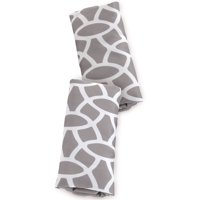 (2 Pack) On the Goldbug Car Seat Strap Cover, Grey Reversible