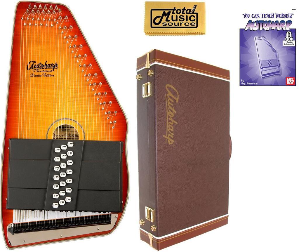 Oscar Schmidt 21 Chord Autoharp, Flame Maple Top, Honey Sunburst, OS11021FHS W Hard Case,... by Oscar Schmidt