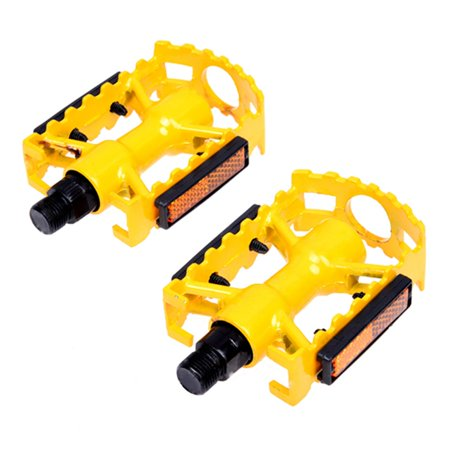 Thzy Mtb Bmx Cycling Road Mountain Bike Bicycle Aluminum Flat Cage Platform Pedals Colour Yellow