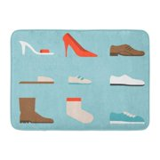 GODPOK Shoes Collection Women's Such As High Heels and Sandal Boots Men's Children and Baby Sneakers Slipper Rug Doormat Bath Mat 23.6x15.7 inch