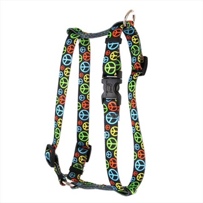 Yellow Dog Design Neon Peace Signs Roman Harness