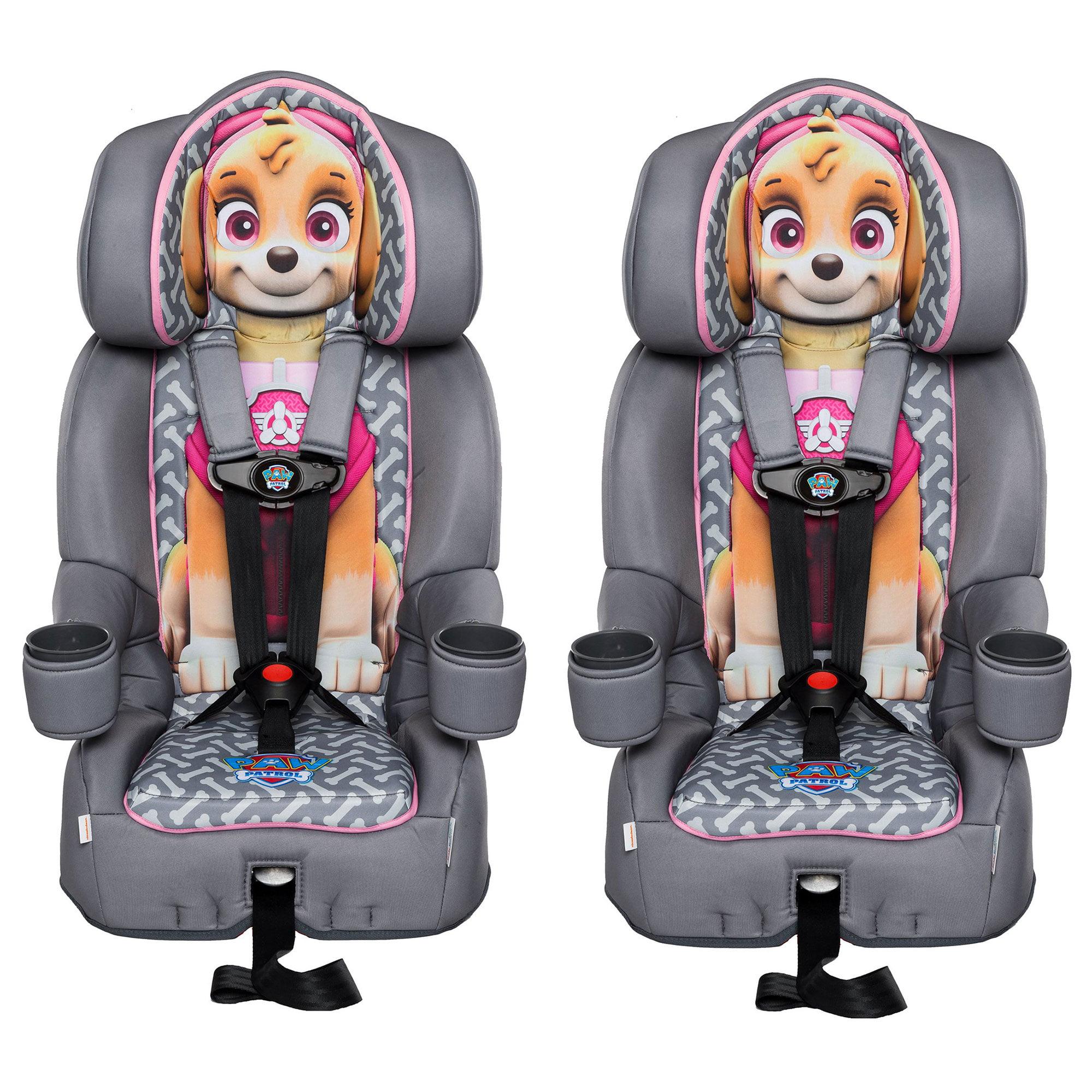 KidsEmbrace Nickelodeon Paw Patrol Skye Harness Booster Car Seat (2 Pack)