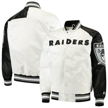 Oakland Raiders Starter Start of Season Retro Satin Full-Button Varsity Jacket - (Oakland Raiders Jacket)