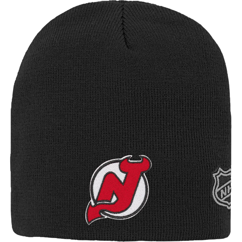 New Jersey Devils Youth Basic Knit Beanie - Black - OSFA