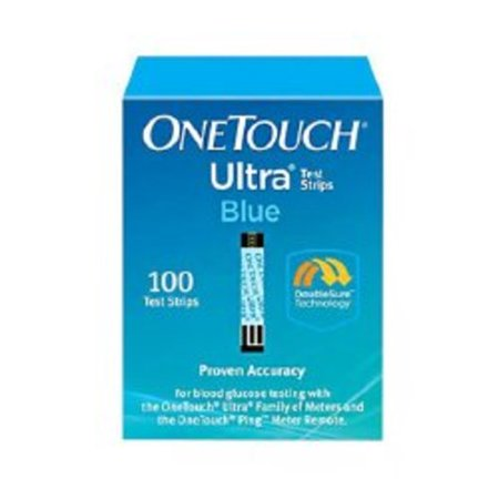 Blood Glucose Test Strips OneTouch® Ultra Blue® 100 Test Strips per