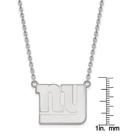 LogoArt® Sterling Silver New York Giants Large Pendant w/ Necklace