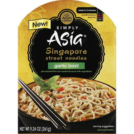 Simply Asia Garlic Basil Singapore Street Noodles, 9.24 oz, (Pack of