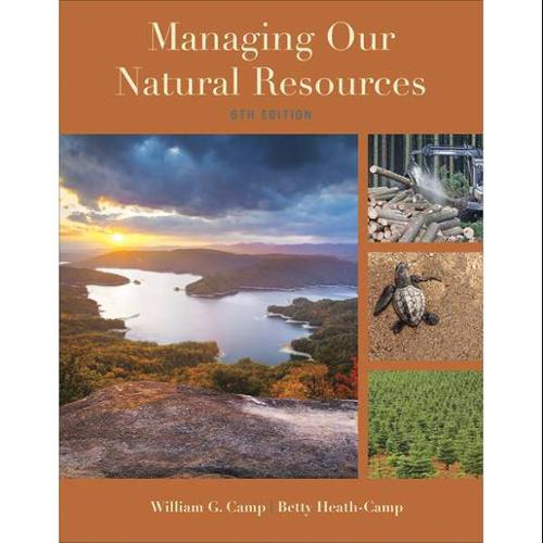 CENGAGE LEARNING 9781285835075 Book,Managing Our Natural Resources,6th G0122617