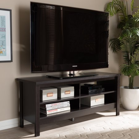 Baxton Studio Sloane Modern and Contemporary Wenge Brown Finished TV Stand