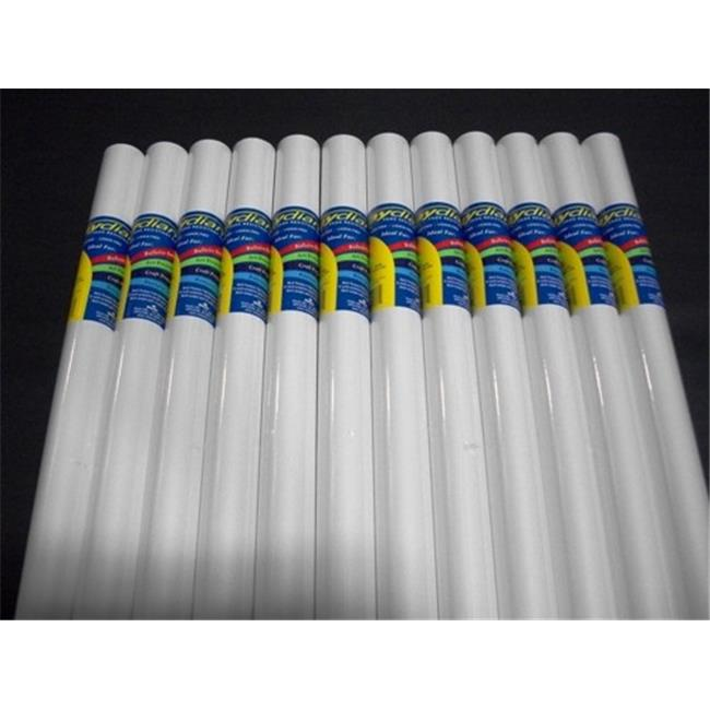 RiteCo Raydiant 80135 Riteco Raydiant Fade Resistant Art Rolls Bright White 18 In. X 50 Ft. 12 Pack