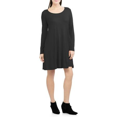 Faded Glory Womens Ribbed Swing Dress Walmart
