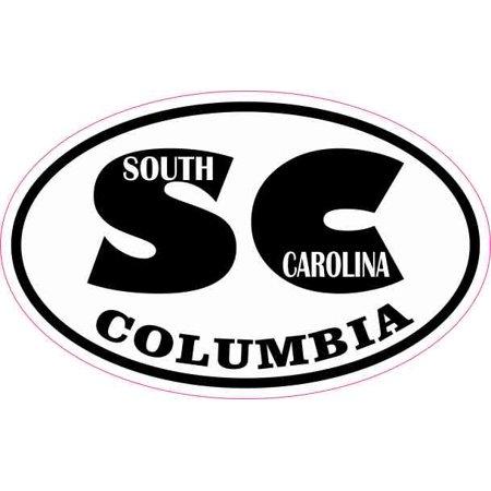 4in x 2.5in Oval SC Columbia South Carolina Sticker](Express Columbia Sc)
