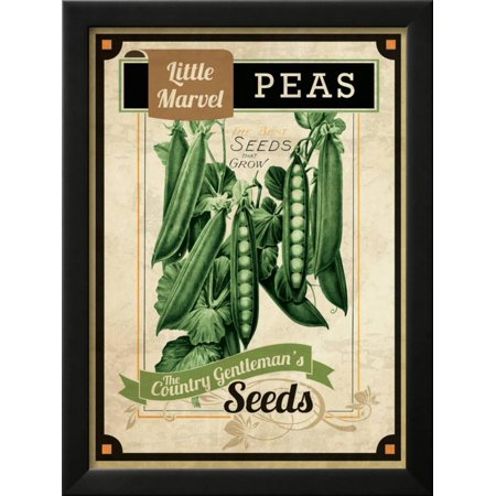 Vintage Peas Seed Packet Framed Giclee Print Wall Art