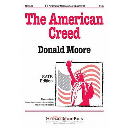 The American Creed Ed Octavo   Satb Piano   2 Tpt  2 Tbn P A Cd   Donald Moore   Sheet Music   152664H