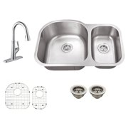 Schon SC467550 Double Basin Undermount Kitchen Sink Set