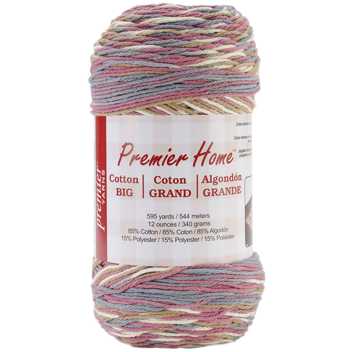 Home Cotton Grande Yarn-Multi-Rosy Cheeks