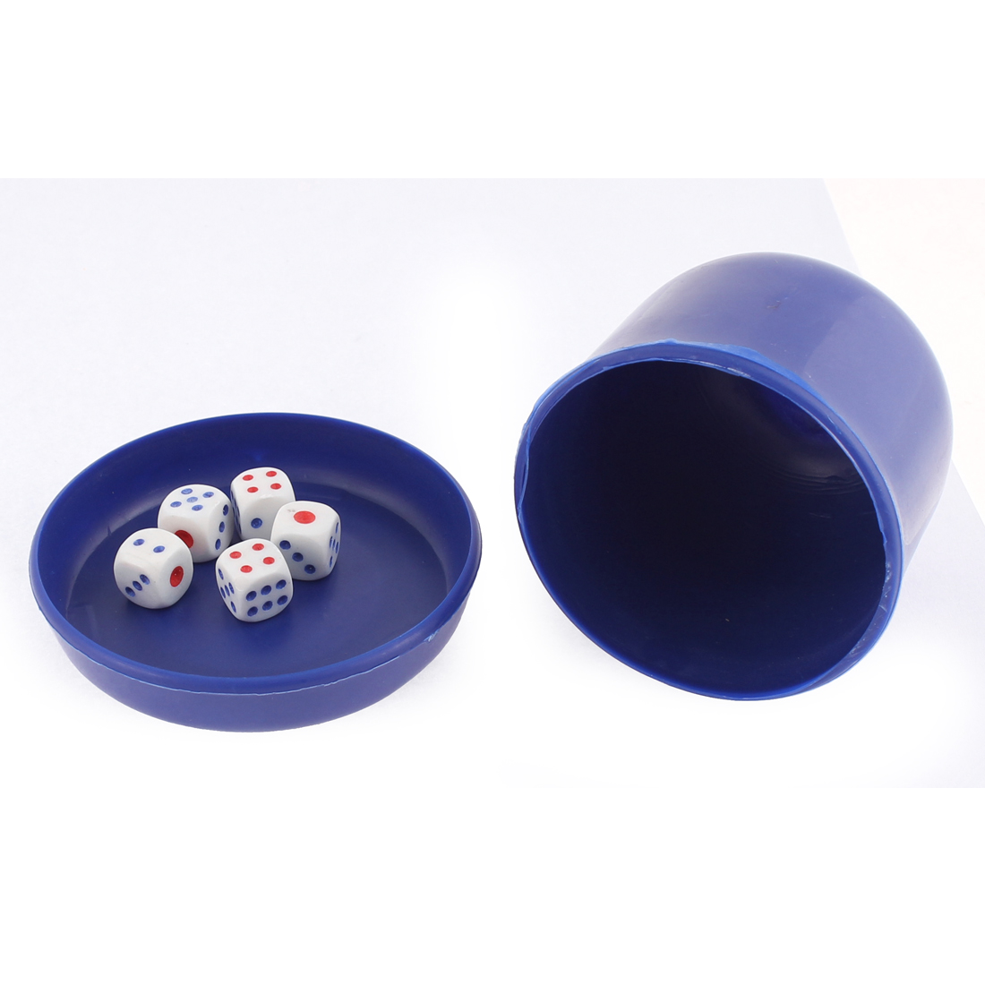 Game Dice Roller Cup Blue w 5 Dices - image 3 de 3