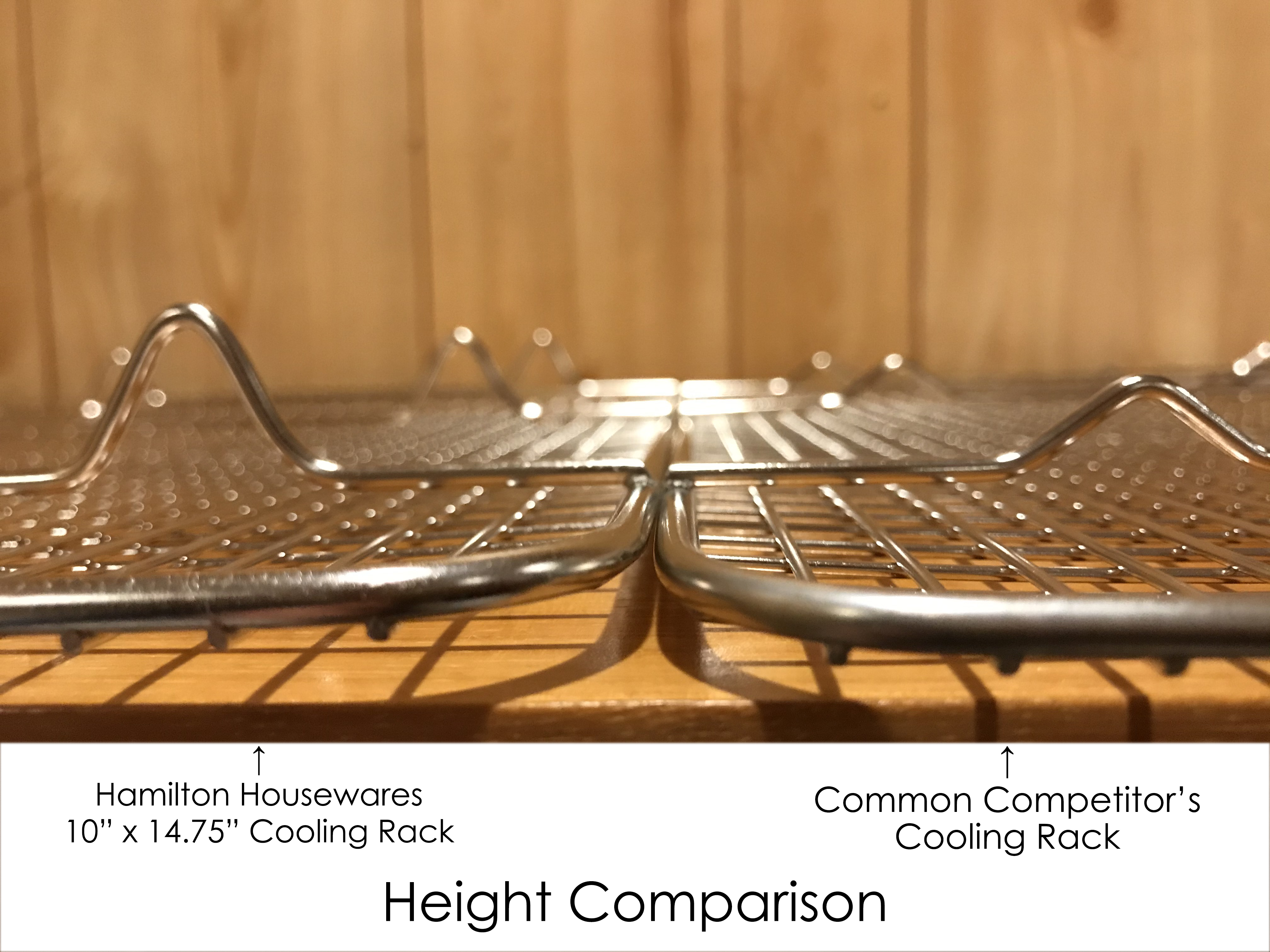 """Open Box Hamilton Housewares 10/"""" X 14.75/"""" Stainless Steel Cooling Rack"""