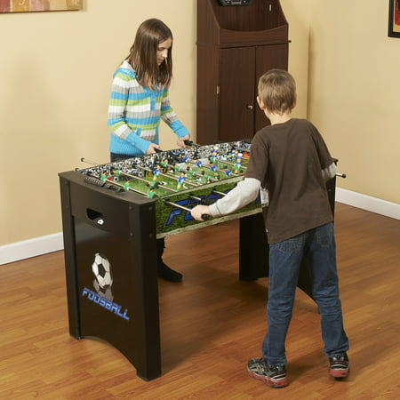 Hathaway Playoff 4-Foot Foosball Table, Soccer Game for Kids and Adults with Ergonomic Handles, Analog Scoring and Leg Levelers - Table Games For Kids