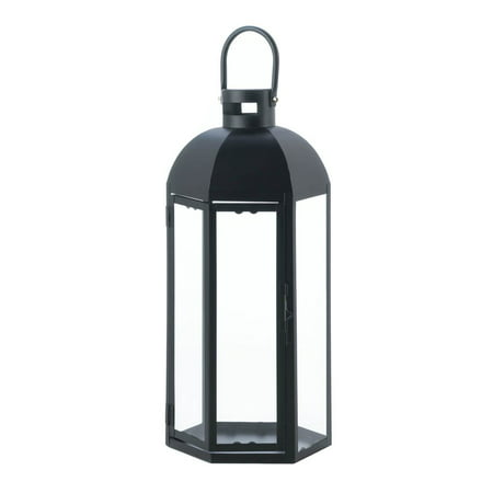 Black Candle Lantern, Large Outdoor Metal Candle Lanterns Holder - Large Black Lanterns