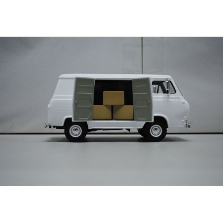 1985 85 Ford E250 Van - 1963 1960's Ford Econoline Working Van White with Boxes 1/25 Diecast Model by First Gear