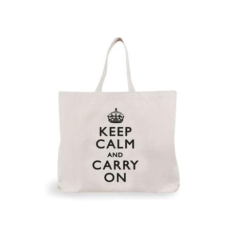 Women s Keep Calm   Carry On Tote Bag Shoulder Reusable Shopping Bag Made  in USA - Walmart.com fc2bd10689