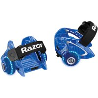 Razor Jetts DLX Heel Wheels with Sparks, Neon Blue