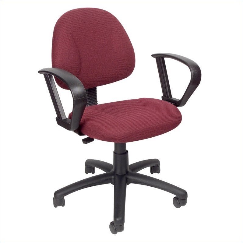 Boss Office Products Deluxe Posture Office Chair with Loop Arms-Black - image 3 de 6