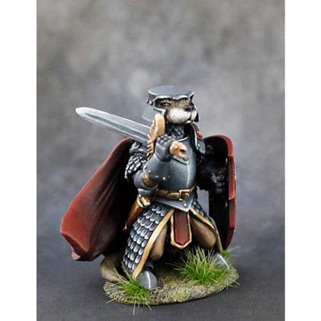 Otter Knight With Sword And Shield Miniature Critter Kingdoms Dark Sword Miniatures](Toy Sword And Shield)