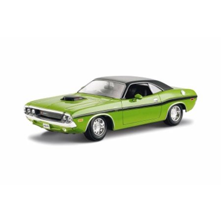 Challenger Hardtop - 1970 Dodge Challenger R/T Coupe Hard Top, Green - Maisto 31263GN - 1/24 scale Diecast Model Toy Car