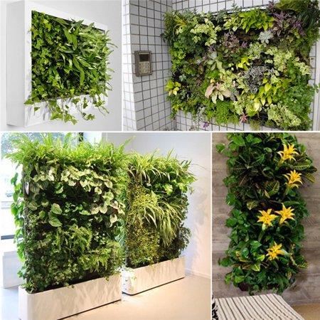 12 Pockets Indoor Outdoor Vertical Garden Wall Planter Hanging Planting Bag Grow Bags Garden Pot - image 4 of 6