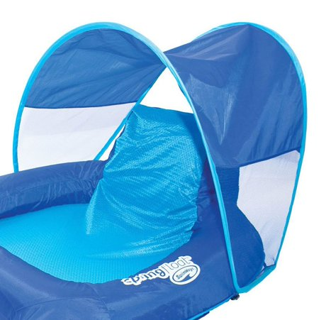 Swimways Spring Float Recliner Pool Lounge Chair W Sun