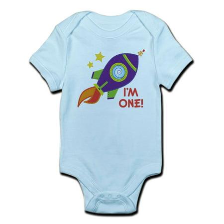 CafePress - First Birthday Space Rocket Infant Bodysuit - Baby Light (First Birthday Onesie)