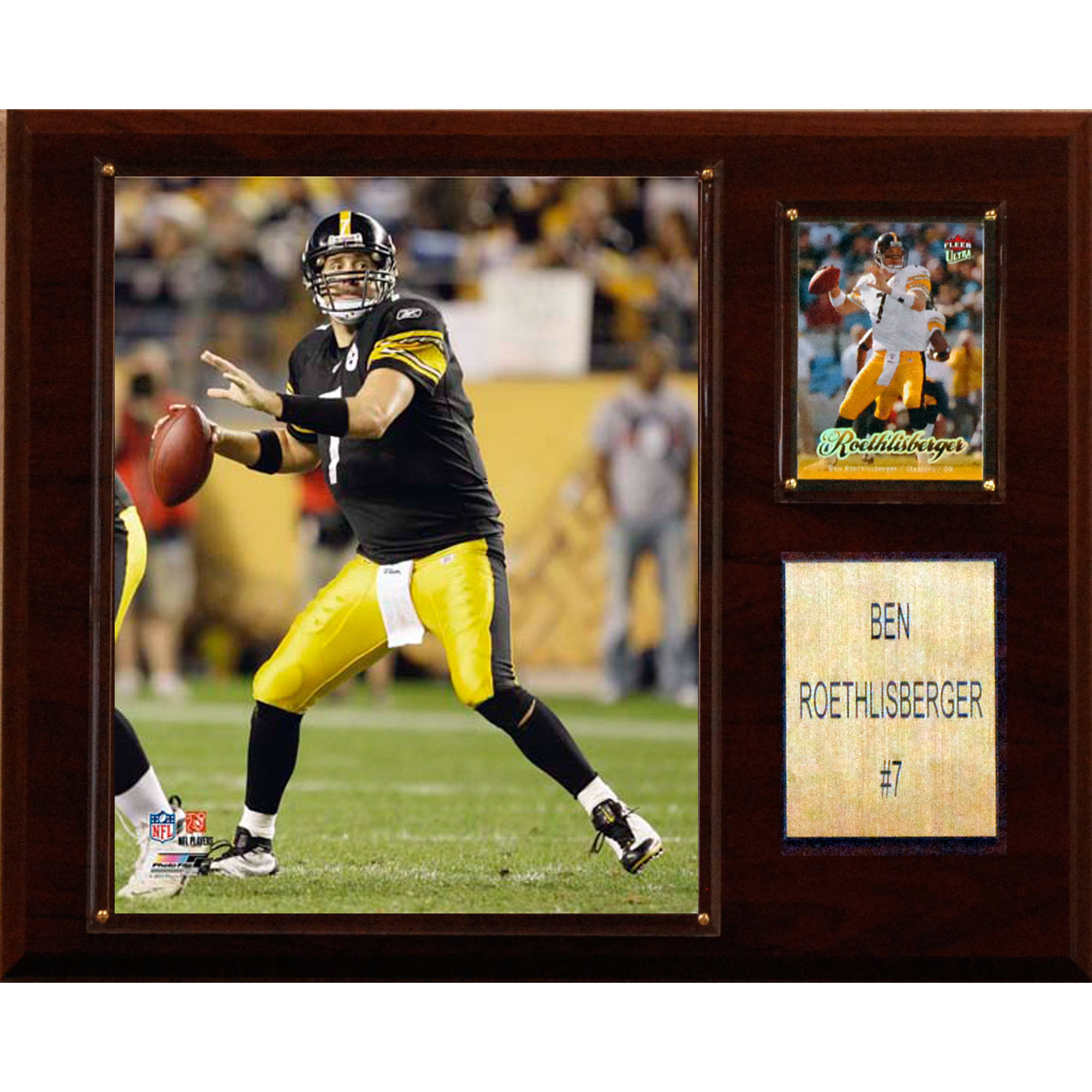 C&I Collectables NFL 12x15 Ben Roethlisberger Pittsburgh Steelers Player Plaque