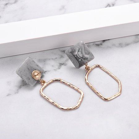 European and American retro fashion simple acrylic acrylic earrings geometric earrings