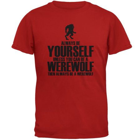 Halloween Always Be Yourself Werewolf Red Adult - Halloween Werewolf Music