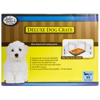 """Four Paws Deluxe Dog Crate - Double Door X-Small Breeds up to 25 lbs - (24""""L x 18""""W x 20""""H)"""