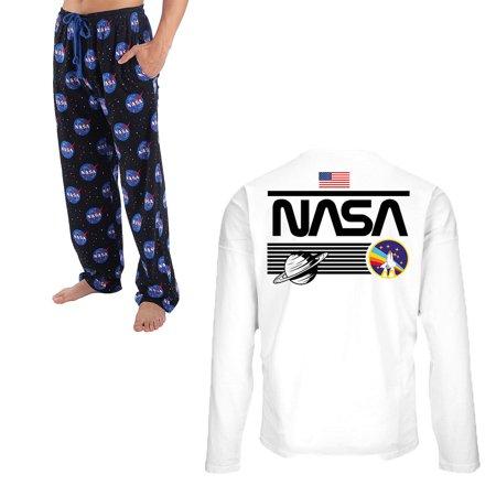 (Set) NASA Long Sleeve T-Shirt & NASA Lounge Pants - Offically Liscened - XL