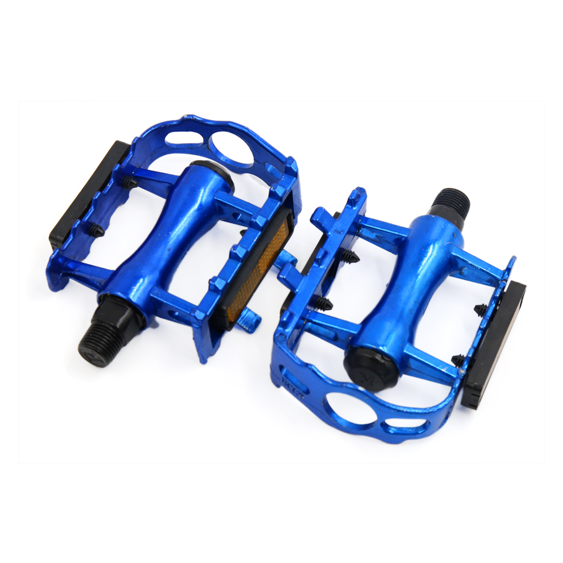 2pcs Bicycle Pedal Cycling Bike MTB Aluminum Alloy Flat Platform Pedals Blue