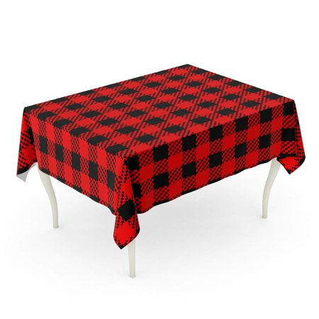 Tremendous Sidonku Buffalo Checkered Flannel Plaid Printing Pattern Black And Red Colors Abstract Casual C Tablecloth Table Desk Cover Home Party Decor 52X70 Bralicious Painted Fabric Chair Ideas Braliciousco