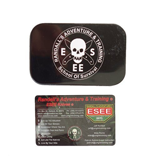 """ESEE Pocket Survival Kit Tin, 3.75"""" x 2.25"""" x .75"""" by ESEE"""