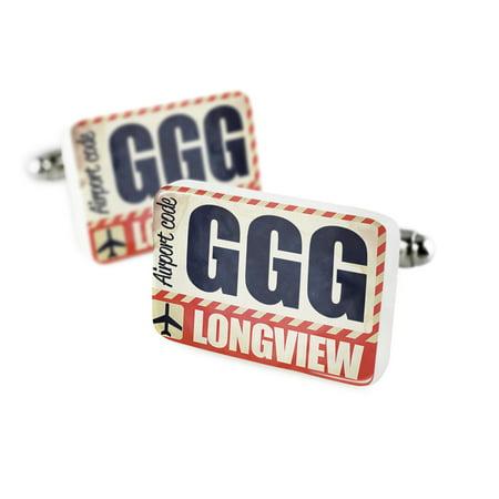 Cufflinks Airportcode Ggg Longviewporcelain Ceramic Neonblond