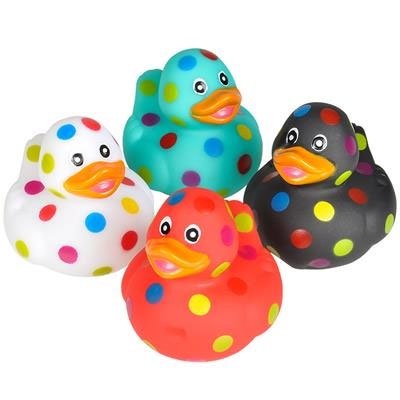 Rhode Island Novelty - Rubber Ducks - POLKA DOT DUCKIES (Set of 4 Styles) - Rubber Duck Clip Art