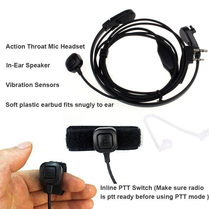 Caroo Universal Replacement Soft Silicone Earbuds Ear Buds Plugs Medium Earmold for Air Acoustic Earpiece Headset Two Way Radio Walkie Talkie Earpiece