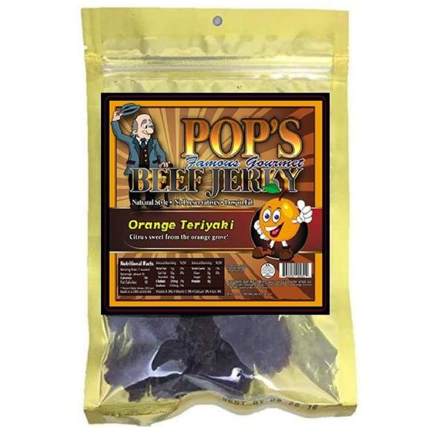 Pop's Famous Gourmet Beef Jerky - Orange Teriyaki